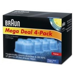 Braun CCR4 Clean & Renew Refill Cartridge 4 Stuks