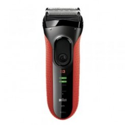 Braun Series 3 - 3050cc - Rood - Clean & Charge scheerapparaat